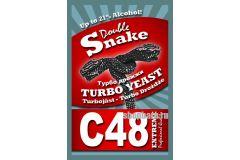 Спиртовые турбо дрожжи Double Snake C48