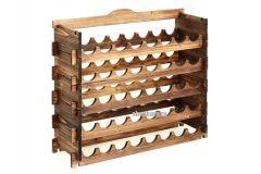 Деревянный стеллаж из сосны на 40 бутылок